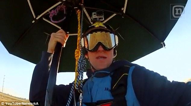 Mary Poppins Skydive Using A Real Umbrella Infozone Tv